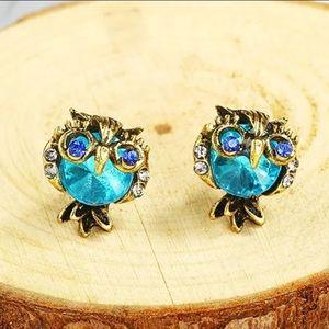 🌺4 Items $25🌺 Crystal Owl Stud Earrings NWT